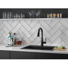 Matte Black Single Handle Pull-Down Bar / Prep Faucet
