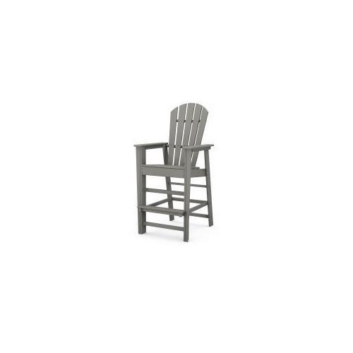 Polywood Furnishings - South Beach Bar Chair in Slate Grey