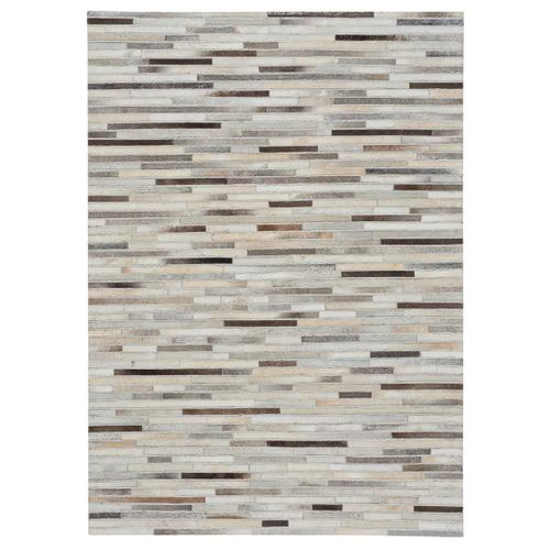 Laramie-Braided Stripe Grey Multi - Rectangle - 5' x 8'