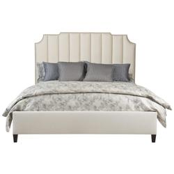 King-Sized Bayonne Upholstered Bed (Low Footboard) in Espresso