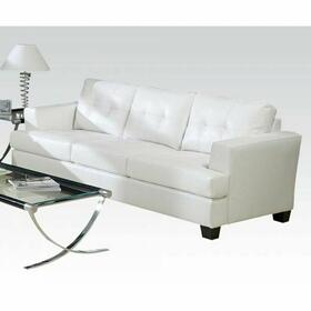 ACME Platinum Sofa - 15095B - White Bonded Leather