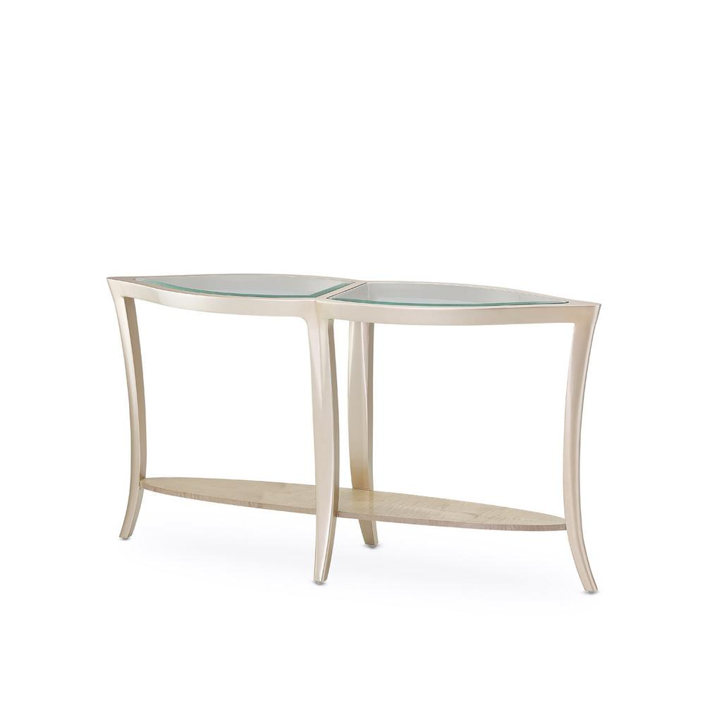See Details - Console Table W/glass