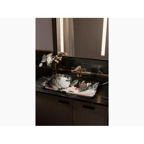 Blush Floral In Blush Floral On Carillon Rectangle Wading Pool Vessel Bathroom Sink