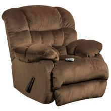 Massaging Sharpei Espresso Microfiber Rocker Recliner with Heat Control