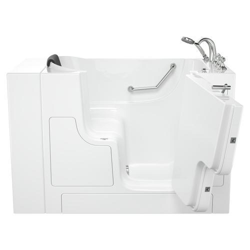 American Standard - Gelcoat Premium Series 30x52 Inch Walk-in Tub with Outward Facing Door, Left Drain - White