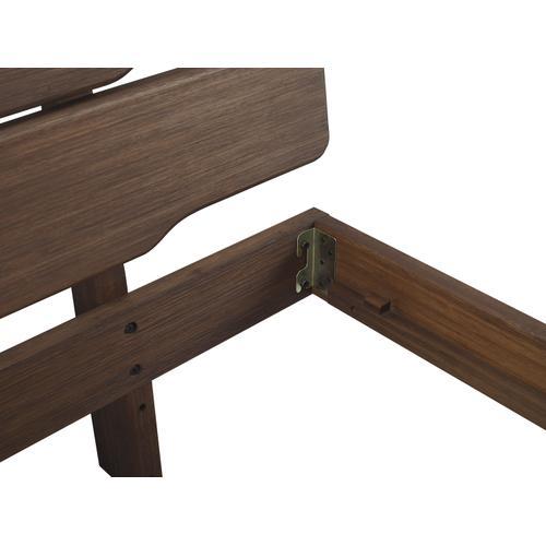 Currant Eastern King Platform Bed, Oiled Walnut