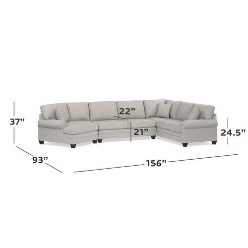 CU.2 Left Cuddler Sectional, Arm Style Wedge