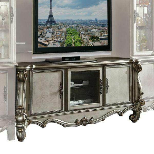 ACME Versailles TV Console - 91824 - Antique Platinum