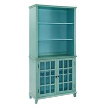 See Details - Largo Cupboard With Glass Doors Turquois