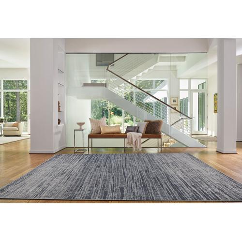 Metropolis-Skyline Slate Machine Woven Rugs
