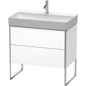 Vanity Unit Floorstanding, White Matte