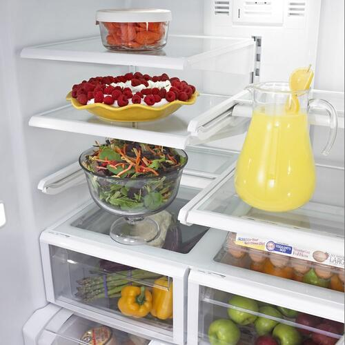 Maytag® 36- Inch Wide French Door Refrigerator with PowerCold® Feature - 25 Cu. Ft.