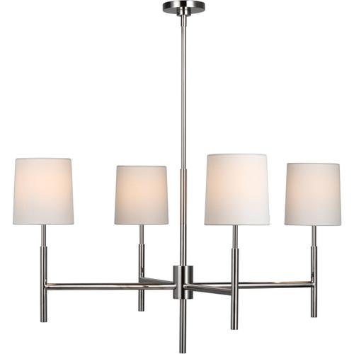 Visual Comfort - Barbara Barry Clarion LED 38 inch Polished Nickel Chandelier Ceiling Light, Large