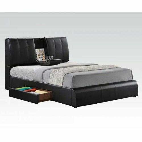 ACME Kofi Eastern King Bed w/Storage - 21266EK KIT - Black PU