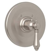 Thermostatic Trim Plate without Volume Control - Satin Nickel with Metal Lever Handle