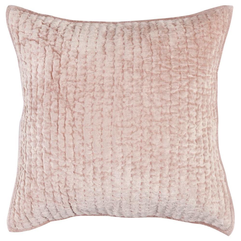 See Details - Bari Velvet Bliss Pink Euro Sham