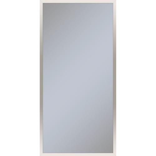 """Profiles 19-1/4"""" X 39-3/8"""" X 6"""" Framed Cabinet In Polished Nickel With Electrical Outlet, Usb Charging Ports, Magnetic Storage Strip and Right Hinge"""