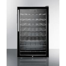 "Commercially Listed ADA Compliant 20"" Wide Wine Cellar for Built-in Use, With Lock, Digital Thermostat, and Pro Thin Handle"