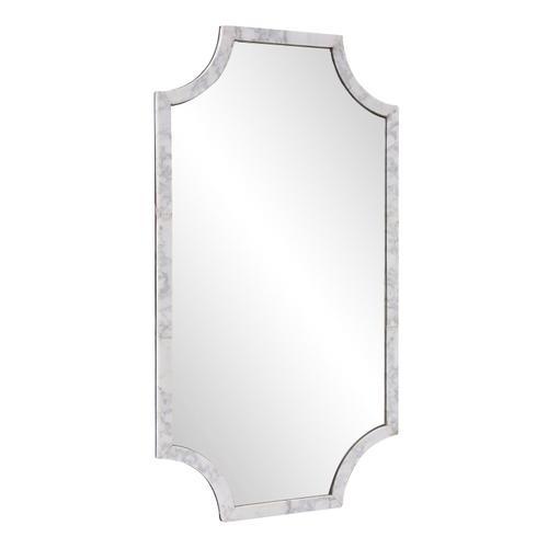 Howard Elliott - Makrana Marble Scalloped Mirror