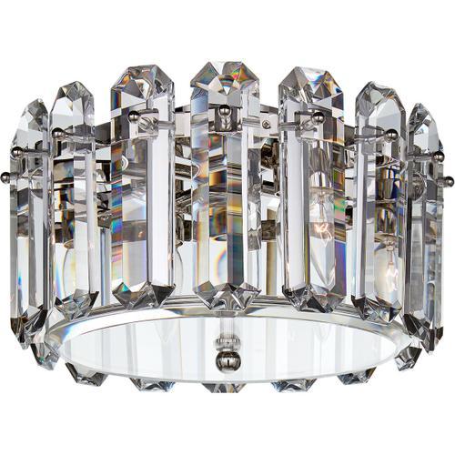 AERIN Bonnington 4 Light 14 inch Polished Nickel Flush Mount Ceiling Light, Small
