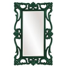 View Product - Whittington Mirror - Glossy Hunter Green
