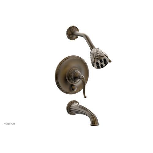 GEORGIAN & BARCELONA Pressure Balance Tub and Shower Set PB2141 - Old English Brass