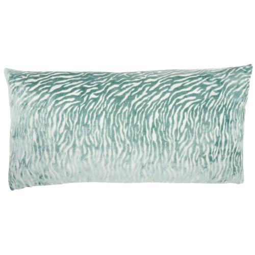 """Luminescence Et139 Celadon 12"""" X 24"""" Throw Pillow"""