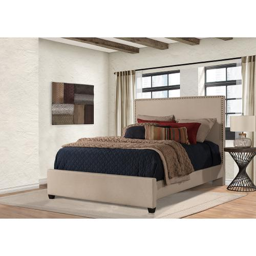 Megan Queen Bed - Sandstone Linen