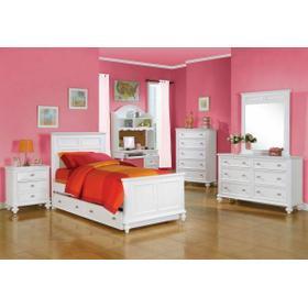 ACME Athena Full Bed - 30000F - White