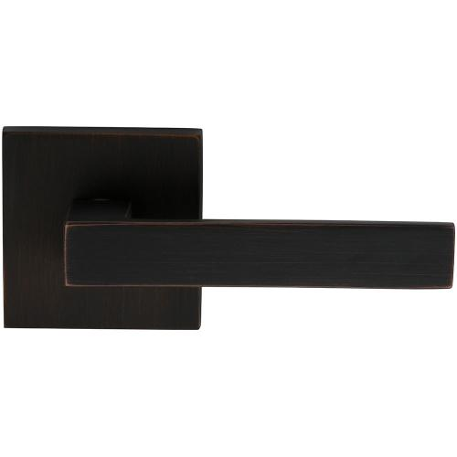 Product Image - Interior Modern Lever Latchset with Square Rose in (TB Tuscan Bronze, Lacquered)