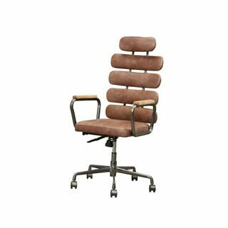 ACME Calan Executive Office Chair - 92110 - Vintage Whiskey Top Grain Leather
