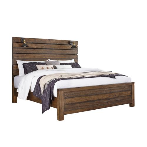 King / Cal King Foot Board with Distressed Finish (with Slats)