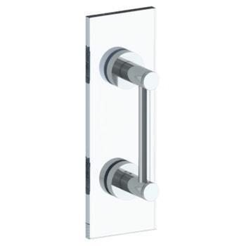 "Sutton 12"" Shower Door Pull / Glass Mount Towel Bar"