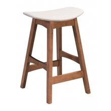 Allen Counter Stool Gray & Walnut