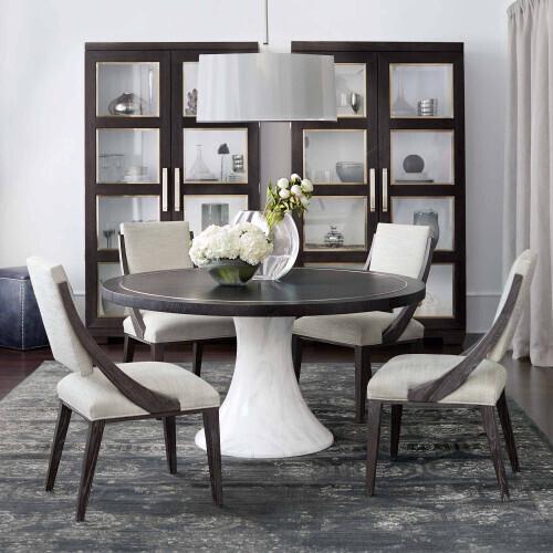Bernhardt - Decorage Round Dining Table in Cerused Mink (380)