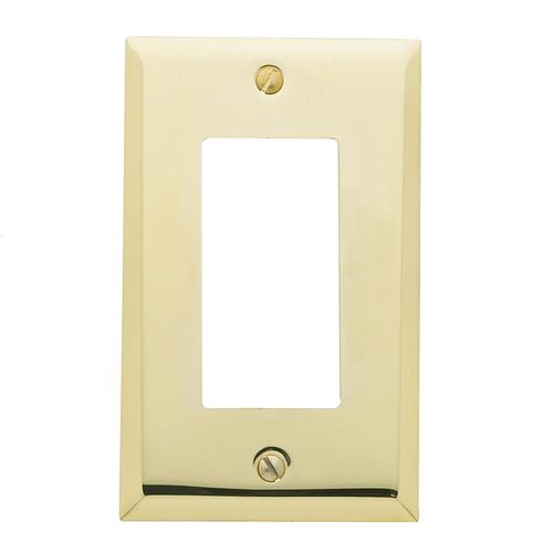 Polished Brass Beveled Edge Single GFCI