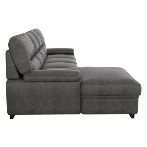 Homelegance - 2-Piece Sectional with Pull-out Bed and Left Chaise with Hidden Storage