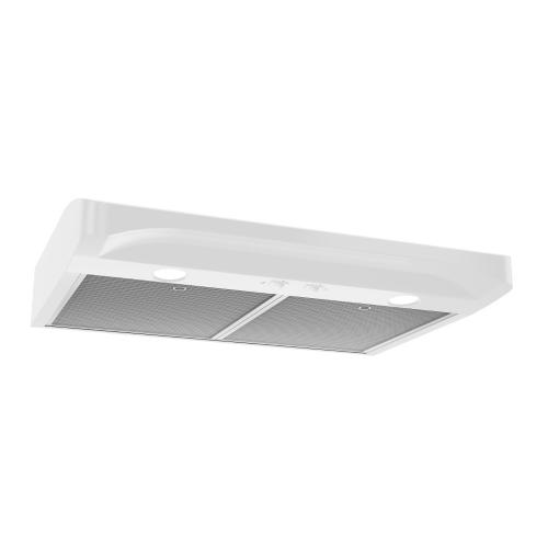 Alta 1 30-inch 250 CFM White Range Hood with light
