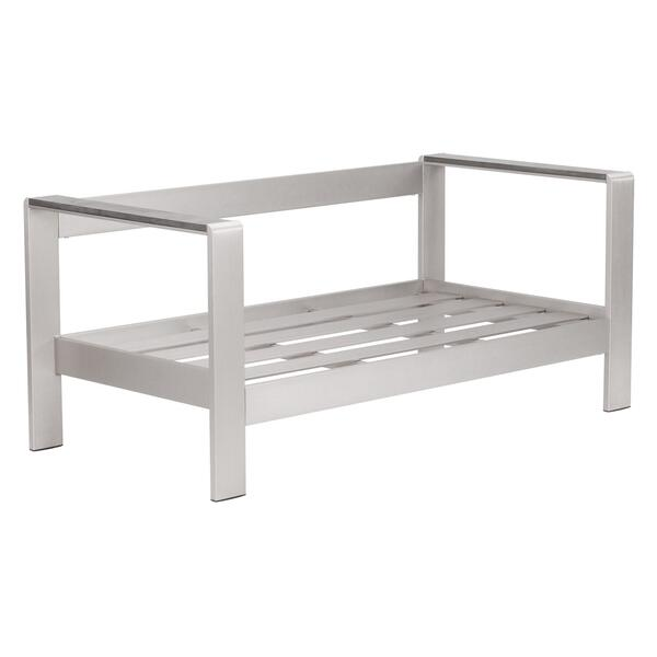 See Details - Cosmopolitan Sofa (frame Only) Brushed Aluminum