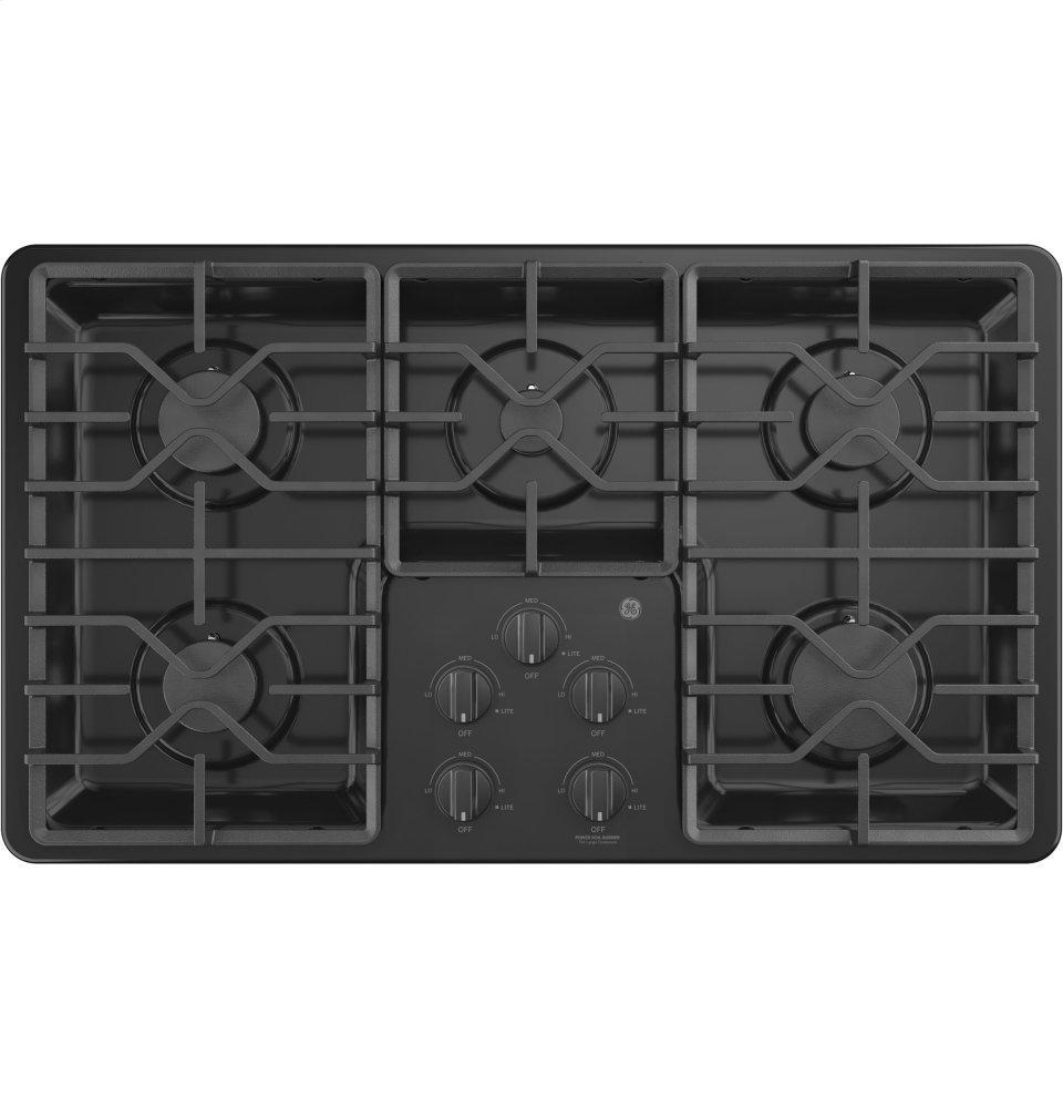 """GEGe® 36"""" Built-In Gas Cooktop With Dishwasher-Safe Grates"""