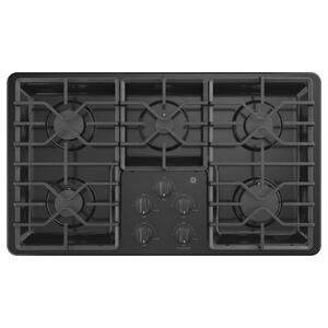 """GE36"""" Built-In Gas Cooktop with Dishwasher-Safe Grates"""