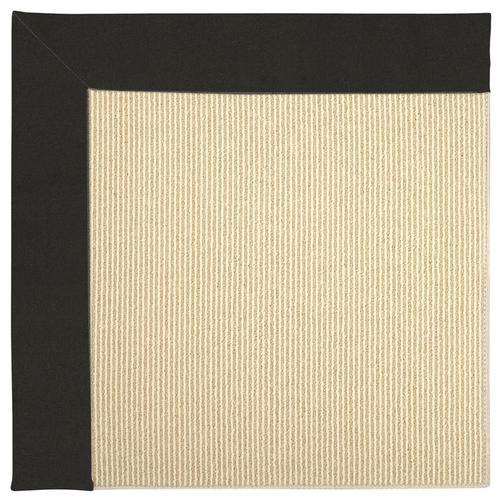 Creative Concepts-Beach Sisal Canvas Black Machine Tufted Rugs