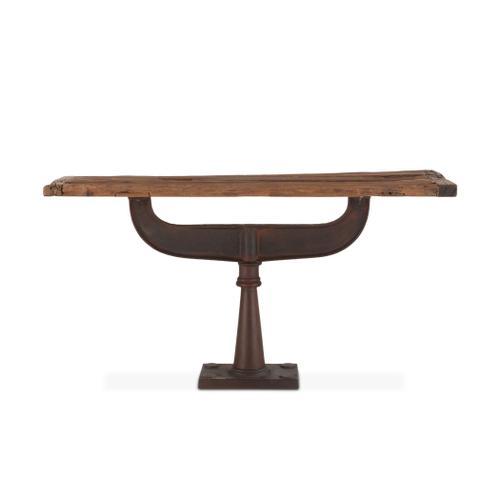 "Industrial Loft 58"" Reclaimed Teak Console Table"