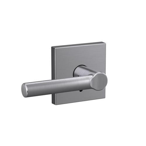 Custom Broadway Non-Turning Lever with Collins Trim - Satin Chrome