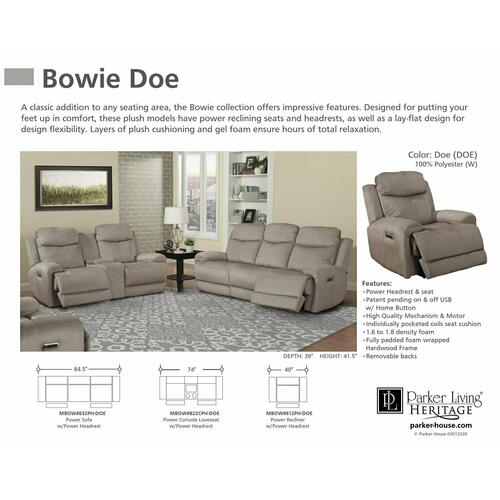 BOWIE - DOE Power Recliner