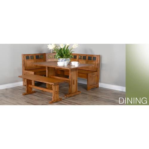 Sedona Side Bench w/ Wood Seat