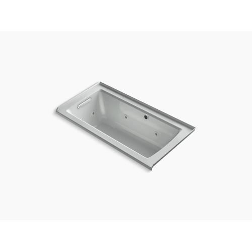 "Ice Grey 60"" X 30"" Alcove Whirlpool Bath With Bask Heated Surface"