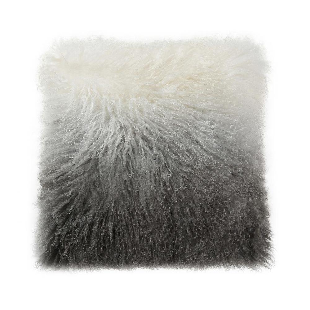 See Details - Lamb Fur Pillow Light Grey Spectrum