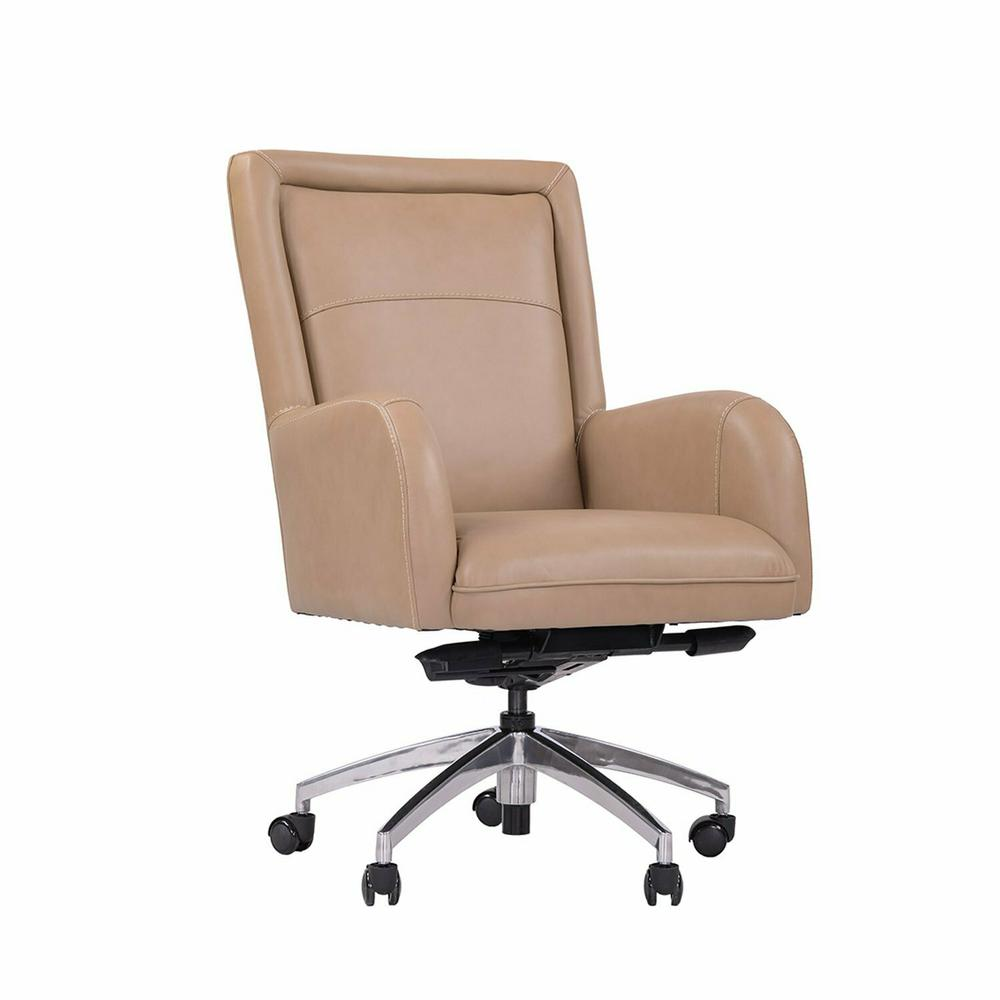 DC#130-TAN - DESK CHAIR Leather Desk Chair
