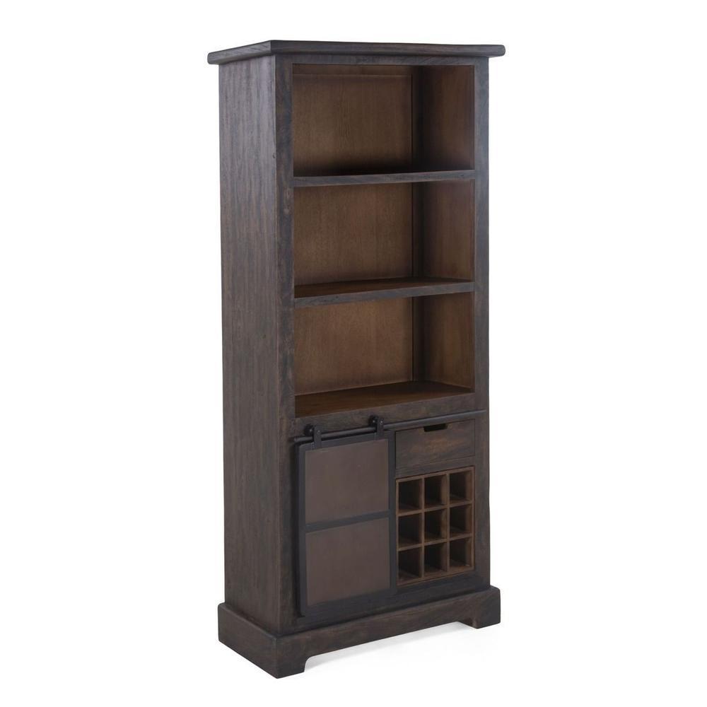 "Steel City 36"" Wide Cabinet with Bar Storage in Desert Brown"